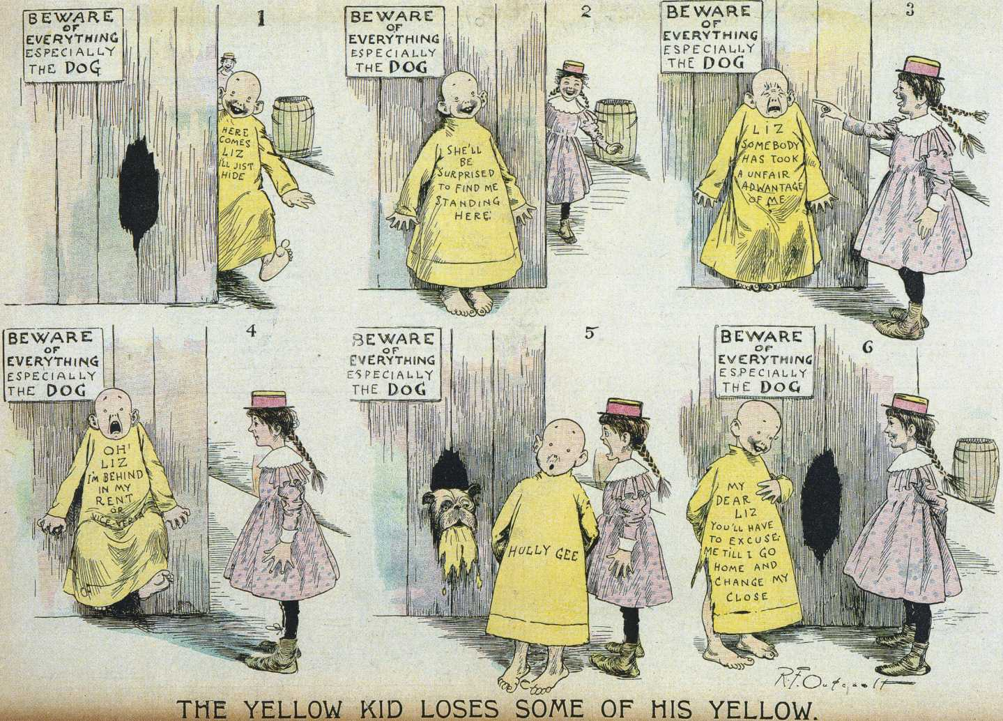 Couple of months january 1898 the yellow kid stops publication